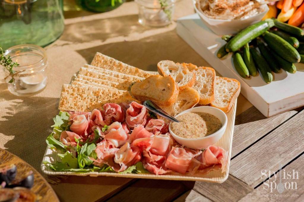 Ladies Night Prosciutto Platter Whole Grain Mustard