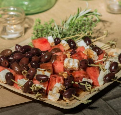 ladies night watermelon feta black olive skewers appetizer