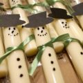 snowman cheese sticks