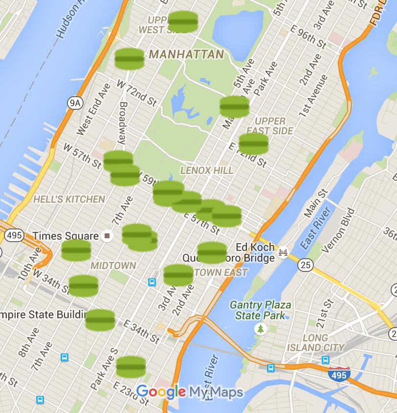 NYC Macaron Day 2016 Map