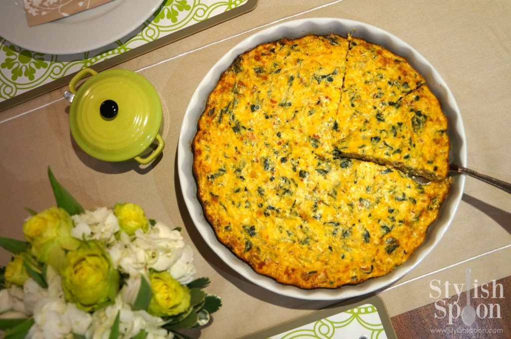low fat spinach quiche
