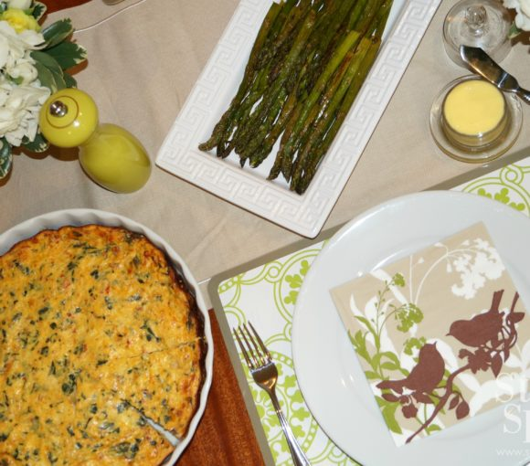 low fat crustless spinach quiche