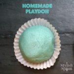 homemade playdoh playdough