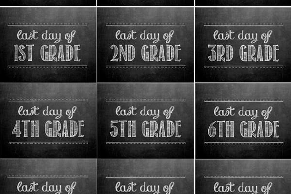 <em> Kids </em> :: First &#038; Last Day of School Signs {Free Printable}
