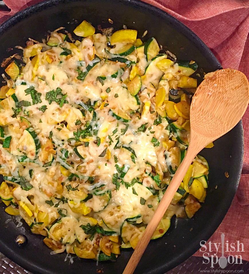 healthy easy zucchini skillet recipe