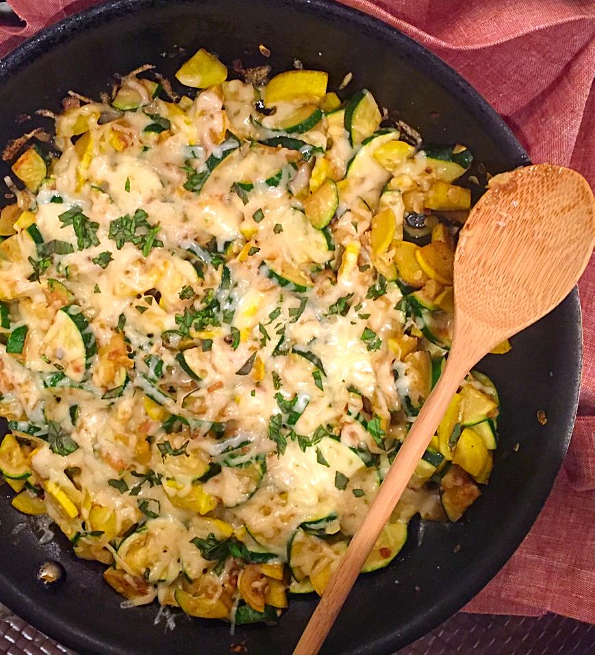 cheesy skillet zucchini