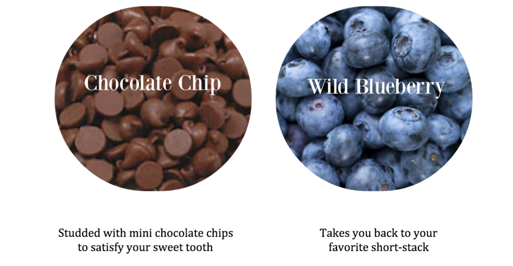Chia Cup Flavors Chocolate Chip Blueberry