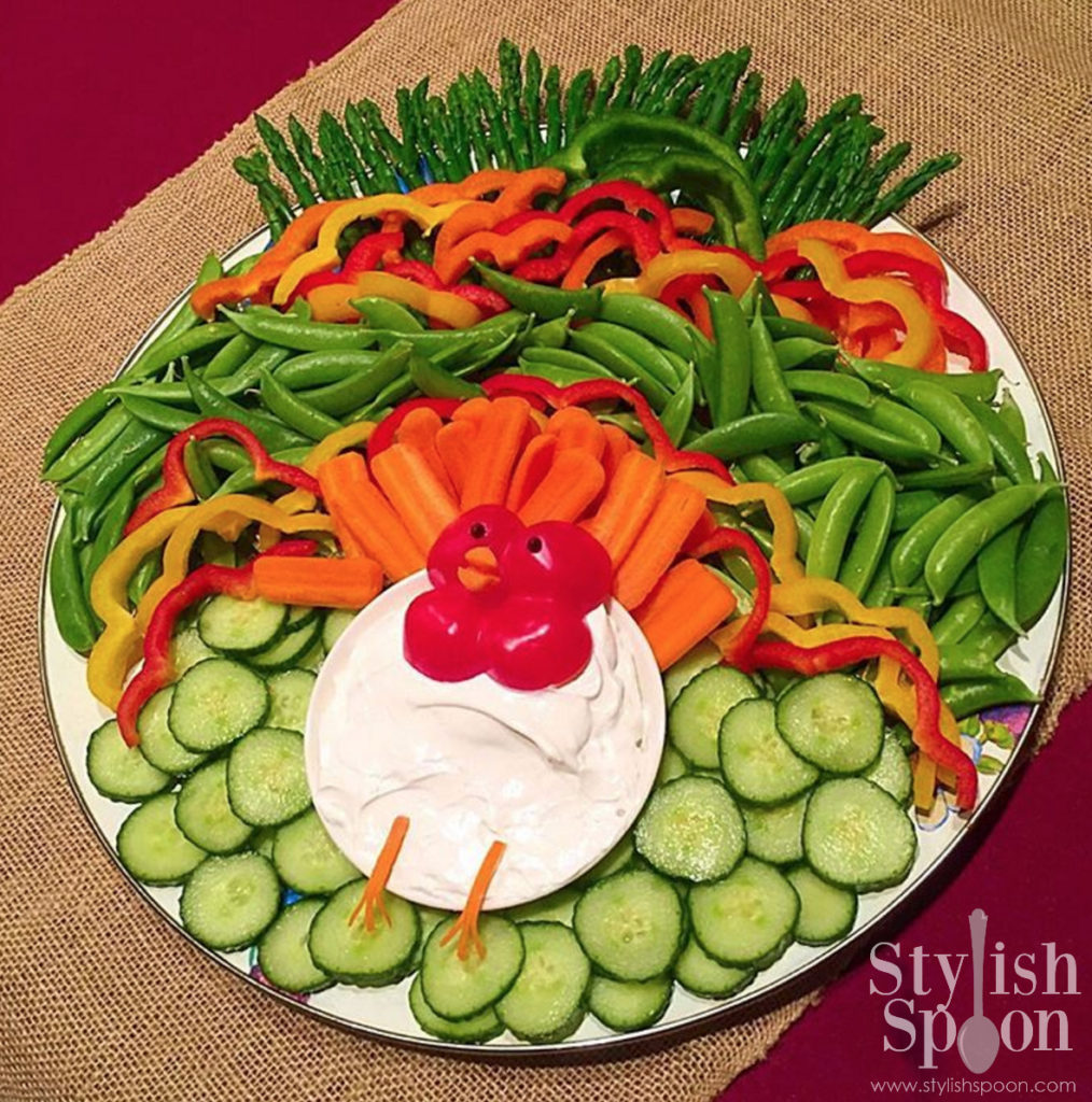 turkey veggie platter healthy thanksgiving appetizer kid-friendly