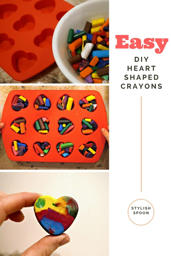 recycle broken crayons, kids diy valentines