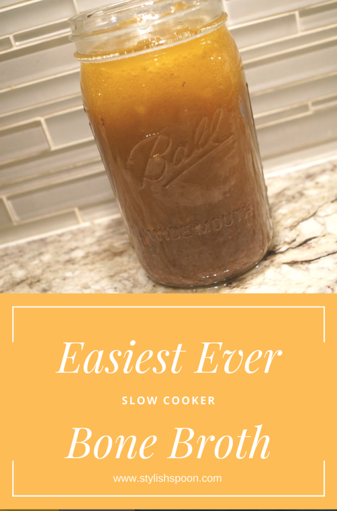 Easiest Ever Slow Cooker Bone Broth