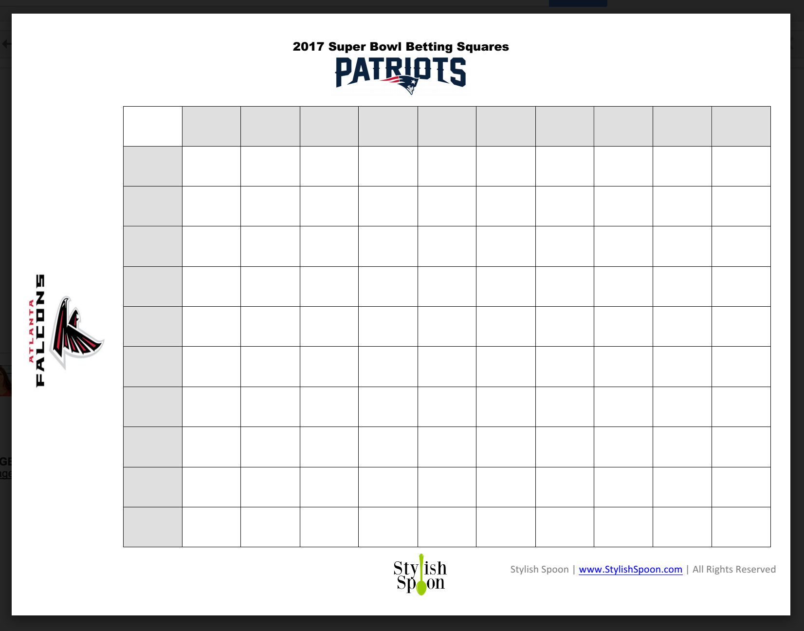 This is a photo of Sizzling Free Printable Super Bowl Squares