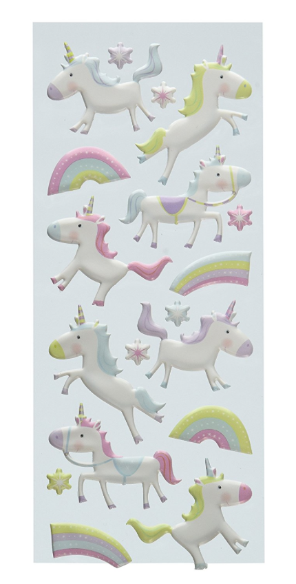 Yes, Target has cheaper unicorn stickers but these are puffy stickers so we can use them in Scarlett's reusable sticker book that she got for her birthday (I had a sticker book that I loved as a kid and used to trade coveted puffy stickers with my friends so I am a sucker for luxe stickers). $6.42/pack on Amazon Prime.