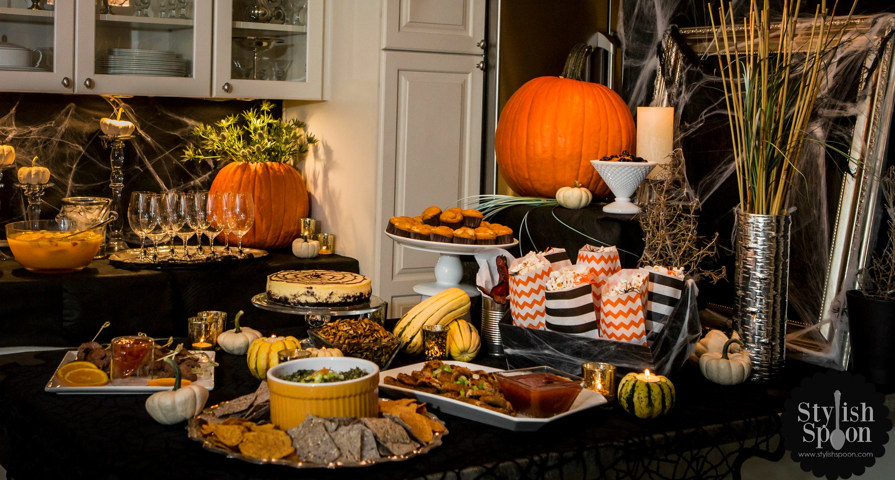 Menu Halloween Cocktail Party Stylish Spoon