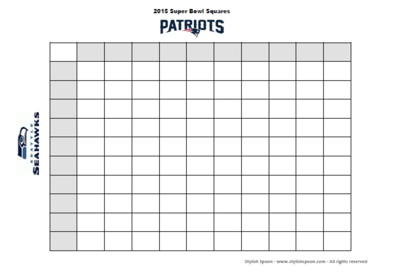 This is a graphic of Satisfactory Printable Football Squares